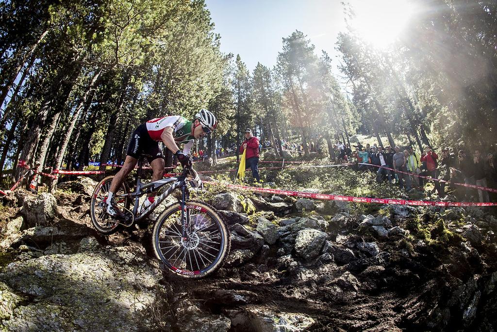 During the 2015 MTB World Championships, Vallnord, Andorra.
