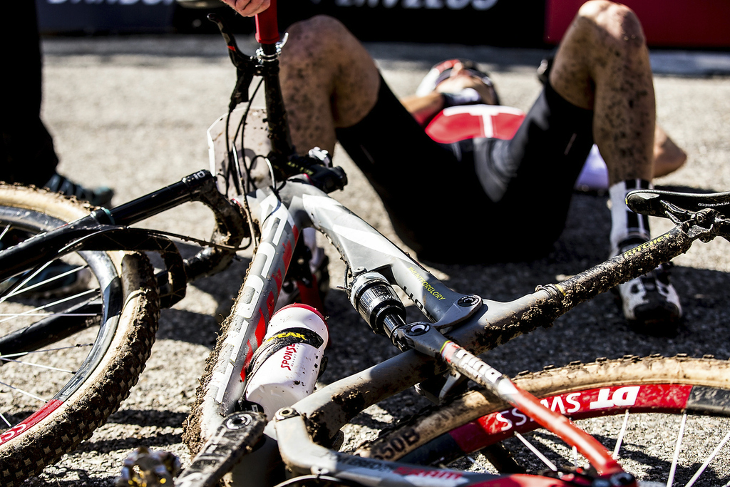 During the 2015 MTB World Championships, Vallnord, Andorra.