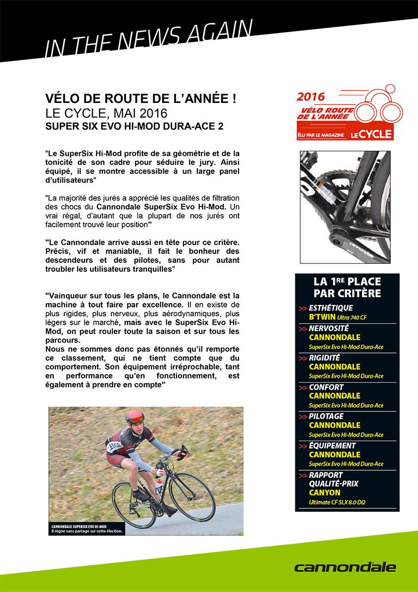 Le Cyclo - Vélo de l'année