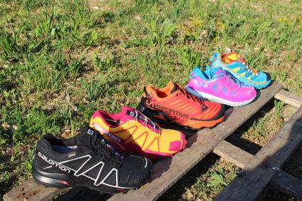 Chaussures de trail Salomon, La Sportiva, Hoka One One