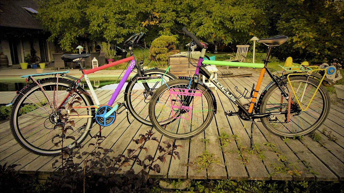 Les vélos prêts à partir !