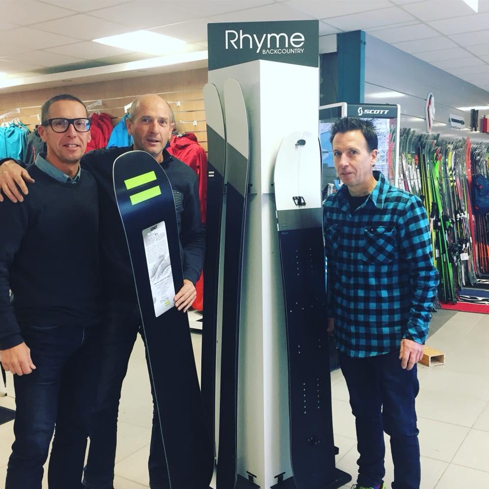 Régis Rolland au magasin pour le lancement de sa collection de skis et snowboards 2018 - En vente en exclusivité chez SportAixTrem !