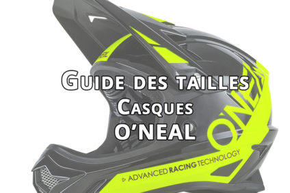 Guides des tailles casques O'neal