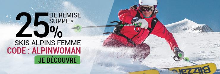 code promo sportaixtrem skis alpins femme