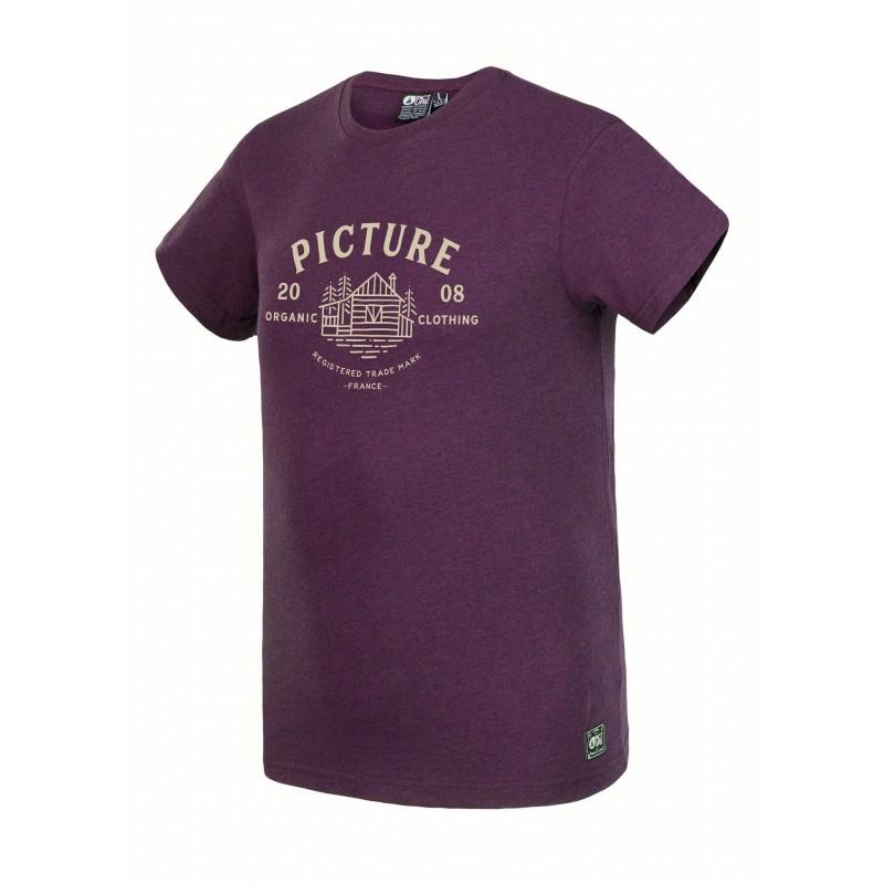 achat tee shirt picture organic homme brady burgundy