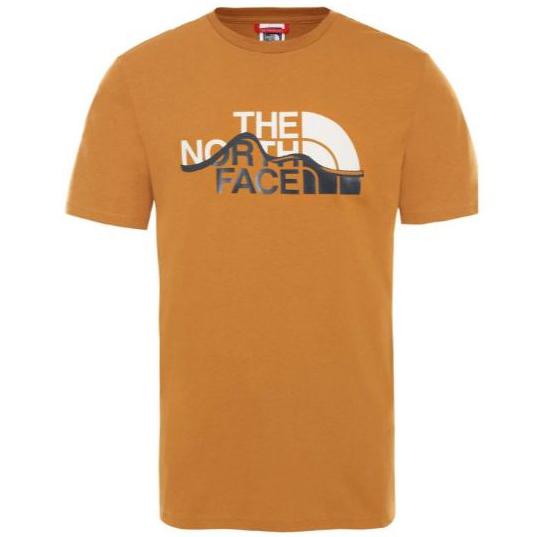 Tee shirt TNF The North Face S/S Mountain Line Orange